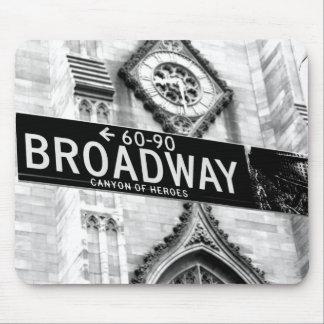 tapis de souris New York broadway