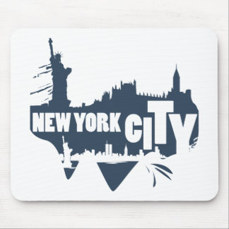 Tapis De Souris New York City - vecteur