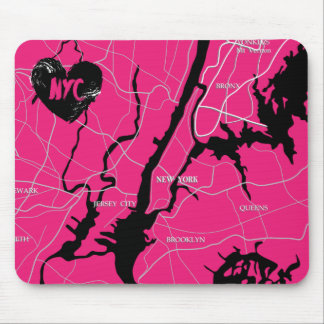 Tapis De Souris New York, moderne, carte