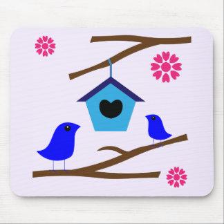 Tapis De Souris Nid d'amour d'oiseaux