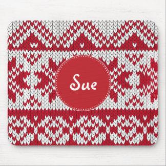 Tapis De Souris Noël tricoté