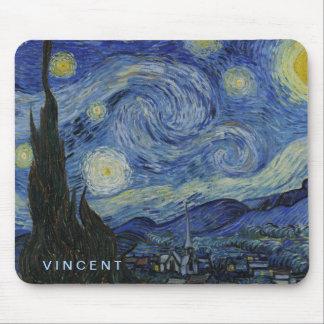 Tapis De Souris Nuit étoilée Vincent van Gogh