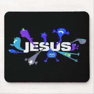 Tapis De Souris Nuits effrayantes de Jésus
