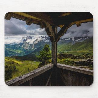 Tapis De Souris Observer les Alpes de vallée et de Suisse de