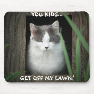 Tapis De Souris Obtenez outre de mon meme de chat de pelouse