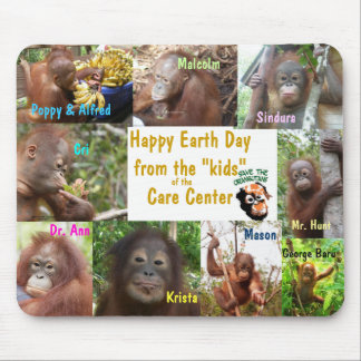 Tapis De Souris Orangs-outans Bornéo Sumatra de jour de la terre