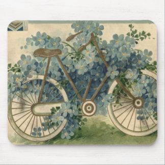Tapis De Souris Oubliez-moi pas anniversaire de bicyclette