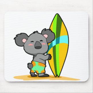 Tapis De Souris Ours de koala de surf Mousepad