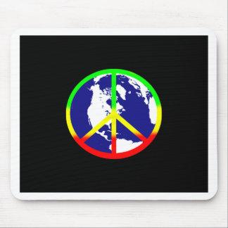 Tapis De Souris Paix du monde sur le noir
