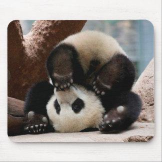 Tapis De Souris Pandas de bébé jouant - panda mignon de panda de
