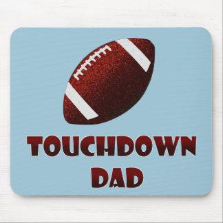 Tapis De Souris Papa de touchdown du football de fête des pères