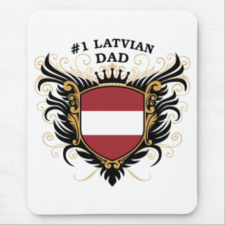 Tapis De Souris Papa letton du numéro un