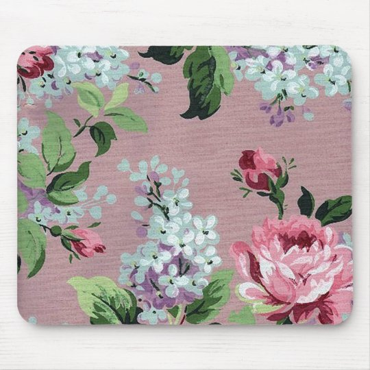tapis de souris papier peint vintage mousepad de fleur. Black Bedroom Furniture Sets. Home Design Ideas
