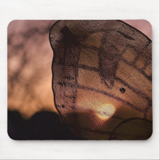 Tapis De Souris Papillon avec le coucher du soleil par Shirley