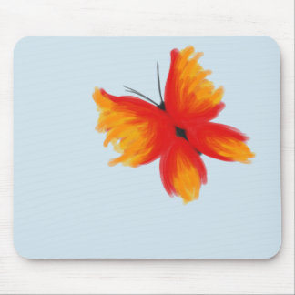 Tapis De Souris Papillon rouge et orange lumineux Mousepad
