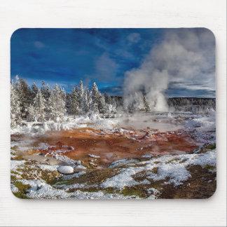 Tapis De Souris Parc national Wyoming de Yellowstone en hiver