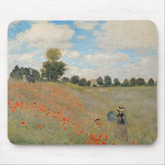 Tapis De Souris Pavots sauvages de Claude Monet  , près