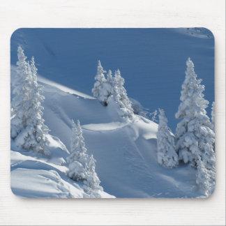 Tapis De Souris Paysage blanc de neige