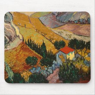 Tapis De Souris Paysage de Vincent van Gogh   avec la Chambre et
