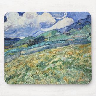 Tapis De Souris Paysage montagneux de Van Gogh