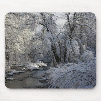 Tapis De Souris Paysage pittoresque d'hiver