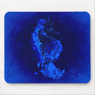 Tapis De Souris Peinture bleue d'hippocampe