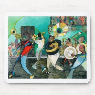 """Tapis De Souris Peinture """"jazz de musique de la Nouvelle-Orléans """""""
