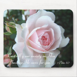 Tapis De Souris Petit rose sensible de rose