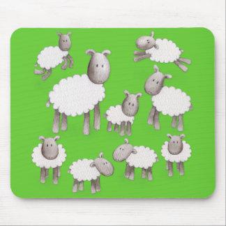 Tapis De Souris Petits agneaux pelucheux