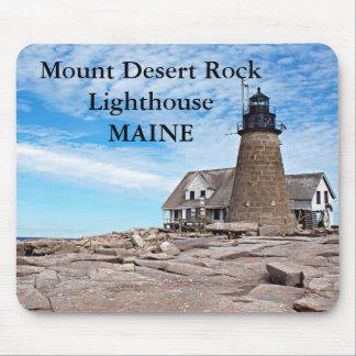 Tapis De Souris Phare de roche de désert de bâti, Maine Mousepad