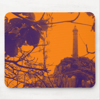 Tapis De Souris Photo d'orange de phare la plus ancienne du