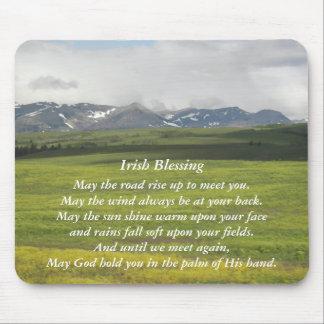 Tapis De Souris Photo irlandaise de vallée verte de bénédiction