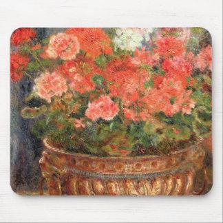 Tapis De Souris Pierre géraniums de Renoir un   dans un bassin de