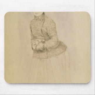 Tapis De Souris Pierre une femme de Renoir   avec un manchon