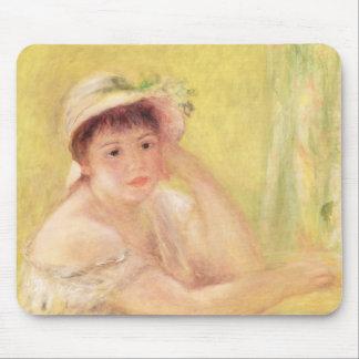 Tapis De Souris Pierre une femme de Renoir   dans un chapeau de