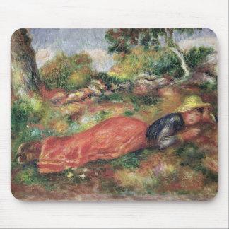 Tapis De Souris Pierre une jeune fille de Renoir   dormant sur