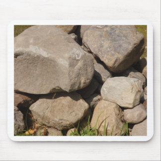 Tapis De Souris Pile des roches de Brown