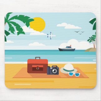 Tapis De Souris Pique-nique sur le mousepad de plage