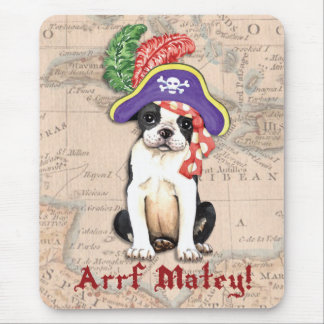 Tapis De Souris Pirate de Boston Terrier