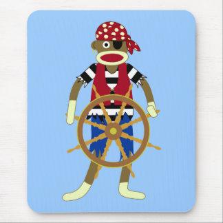 Tapis De Souris Pirate de singe de chaussette
