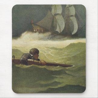 Tapis De Souris Pirates vintages, épave de l'engagement par OR