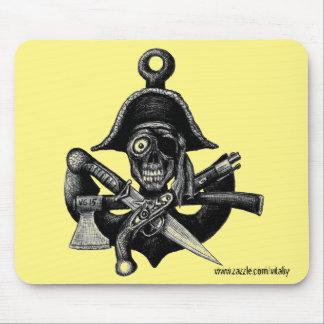 Tapis De Souris Piratez l'art de dessin de stylo de crâne et