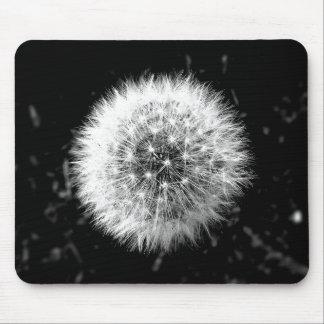 Tapis De Souris Pissenlit noir et blanc