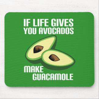 Tapis De Souris Plaisanterie drôle d'avocat de guacamole