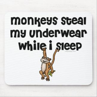 Tapis De Souris Plaisanterie Mousepads de singe
