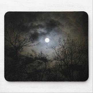 Tapis De Souris Pleine lune une nuit foncée mystique