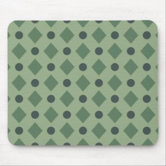 Tapis De Souris Points et vert de motif de diamant