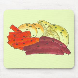 Tapis De Souris Pomme de terre irlandaise de chou de corned beef
