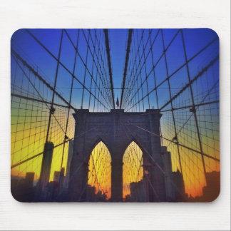 Tapis De Souris Pont de Brooklyn au coucher du soleil