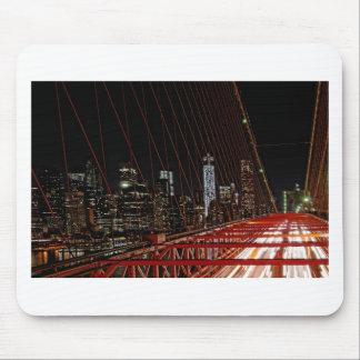 Tapis De Souris Pont de Brooklyn la nuit